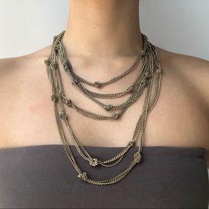 BCBG Gold Knot Necklace